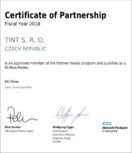 HPE certifikát