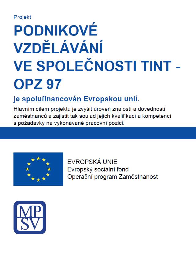 Podnikové vzdělávání ve společnosti TINT - OPZ 97